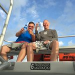 Al and Simon enjoying the ride back to shore from the upper area of the boat