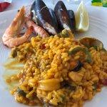 Portion of paella