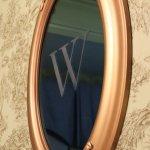 Mirror on room wall.
