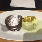 Soufflé with pistachio ice cream