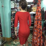 back of the Sheath dress in Miss Forget Me Not's Shop