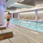Indoor saline pool and whirlpool accessible from hotel lockerooms