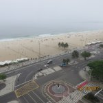 View of Copacabana beach from 12th floor of Hilton Hotel