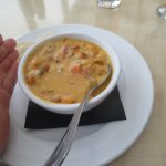 Salmon chowder with sweet potatoes - dee li cious!