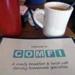Delicious coffee at Comfi of Belmar.