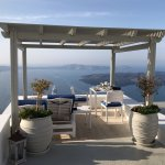 Breakfast on our Private Terrace at the Iconic Santorini