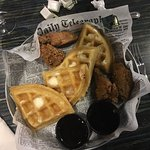 Chicken and Waffles....Airport style