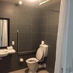 Modern, Accessible bathroom