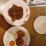 Chicken chukka and medu vada