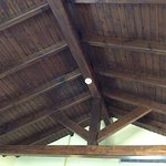 The interesting old ceiling.