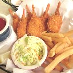 Shrimp, Chips, and Cole Slaw, Elmer's Restaurant, Palm Springs, Ca