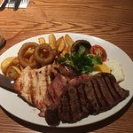 Mixed grill with sirloin upgrade