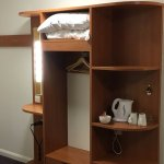 Wardrobe Space With Kettle & Hairdryer.