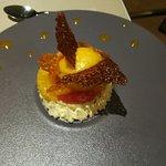 Dessert au Fiadone et au Sorbet de Clémentine