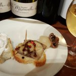 Cicchetti and stawberry wine