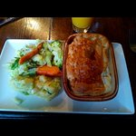 Chicken and Thyme pie and veg