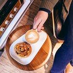 Coffee breakfast coffee bun