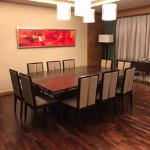 Dining/conference table at the suite