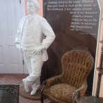 Statues of Mark Twain are found throughout the house along with quotes and descriptions.