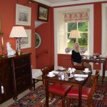 breakfast is served in two charming dining rooms