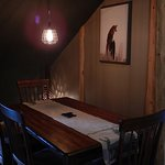 Upstairs dining table, or meeting space!
