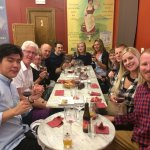 Wine and tapas tasting with new friends in Madrid.