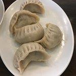 Pan fried beef dumplings