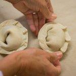 Prosciutto Empanada making