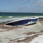 Boat wrecked by Irma