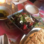 Salad is fresh and the foccacia bread is spongy