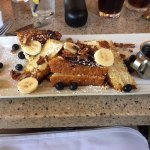 Banana, Blueberry Pecan French Toast