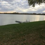 View of the lake from the lawn. Very peaceful.