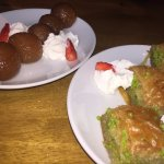 the gulab jamun and baklawa