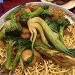 Pan fried noodles with veg