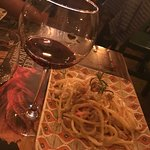 Pasta Share Plate with Red Wine
