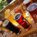 Oak Creek Brewery beer flight