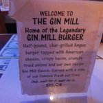 Info on the Gin Mill Burger