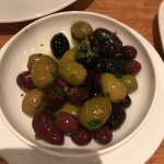 appetizers of olives and mozzarella