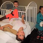 Grandkids enjoyed the stay and grandson particularly loved the baby crib.