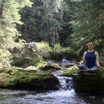 The perfect spot to meditate or drop into trikonasana!