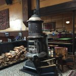 Warm and cozy, potbelly stove