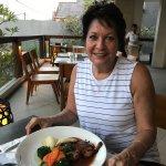 Celebrating our birthdays with dinner at Mozzerellas
