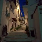 beautiful cobbled streets of Skiathos Town