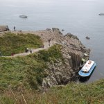 Tourist boat to view cliffs at Tojinbo