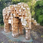 Wooden Elephant in the Botanical Gardens