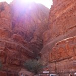 Beautiful walls of Wadi Rum during our day jeep tour! We saw ancient cave drawings on the walls.