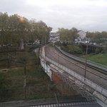 vue sur tram et train
