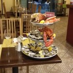 Seafood platter prepared for another table