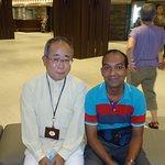 In the lobby with Tour guide Mr. Hiroyuki Nakamura