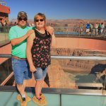 My husband and I on the skywalk!